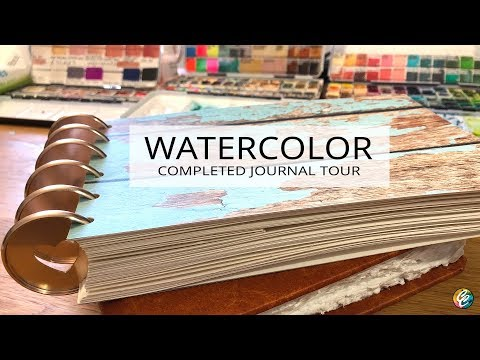 another watercolor journal flip through