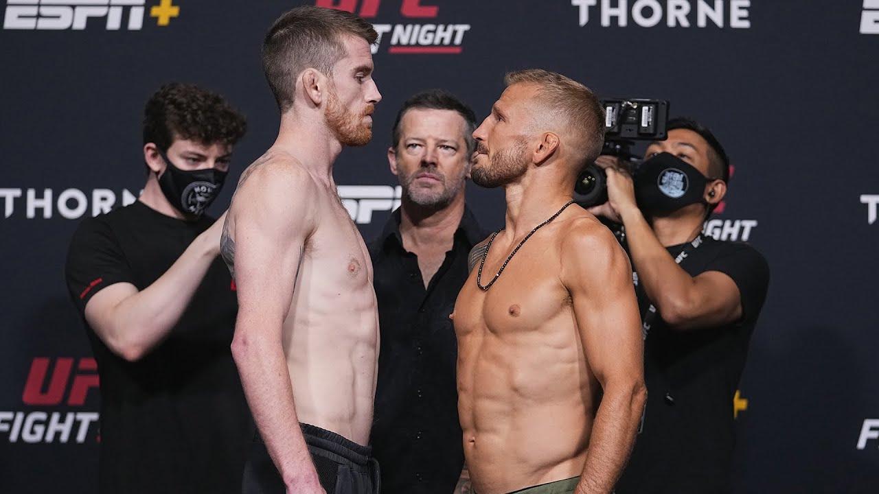 Todas as encaradas da pesagem do UFC Vegas 32