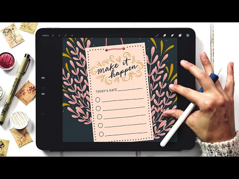 Create a Daily To Do List in Procreate