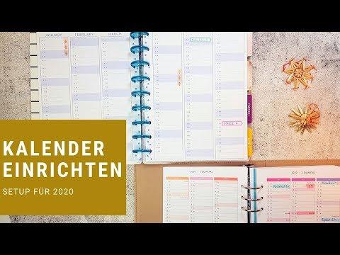 Kalender Setup für das neue Jahr | gabelschereblog