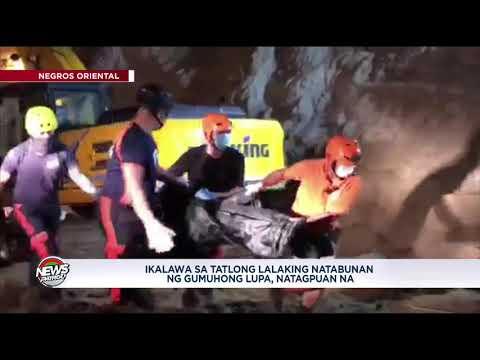 Bangkay ng 1 sa 3 natabunan ng gumuhong lupa sa Negros Oriental, nahukay na