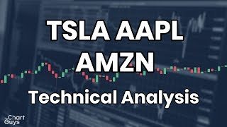 AAPL TSLA AMZN Technical Analysis Chart 07/15/2019 by ChartGuys.com