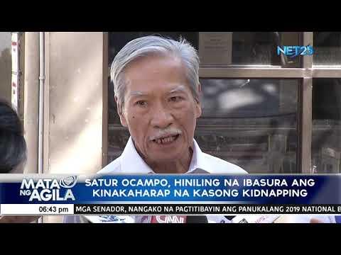 Satur Ocampo, hiniling na ibasura ang kinakaharap na kasong kidnapping