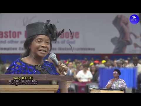 REV. MRS MERCY EZEKIEL MINISTRATION  RCCG HOLY GHOST CONGRESS 2019