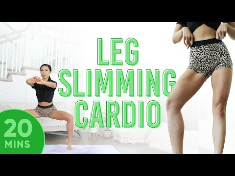 20 Minute Leg Slimming Cardio Pilates Workout   7 Day Thigh Challenge (do this video every day)