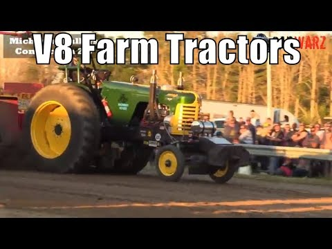 V8 Farm Tractors Class At TTPA Tractor Pulls In Port Hope MI 2018