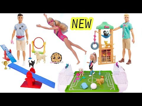 NEW 2020 Barbie Sets Noodle Maker, Swimmer, Dog Trainer, Wild Life Vet Haul Video - UCelMeixAOTs2OQAAi9wU8-g