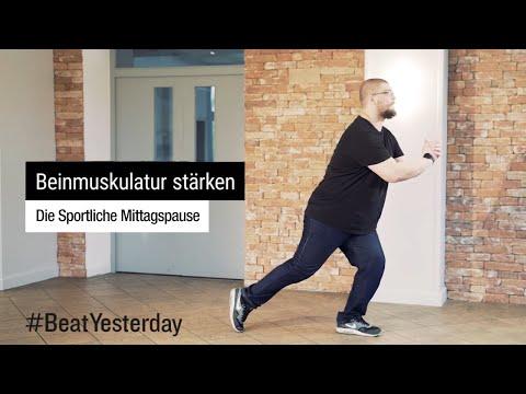 Beinmuskulatur stärken mit 3 Kampfsportübungen - Sportliche Mittagspause | #BeatYesterday