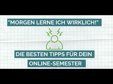 """""""Morgen lerne ich wirklich!"""" - Die besten Tipps für dein Onlinesemester"""