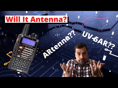 World's most tactical 2m antenna - the ARtenna - Attached to the Baofeng UV-5R #UV5Rmy #MNHR