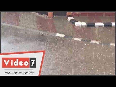تساقط الثلوج والأمطار بمدينة العبور