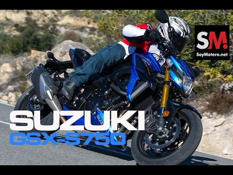 Suzuki GSX-S750 2017: Prueba Moto Naked (FULLHD)