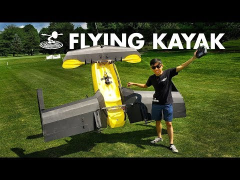 Attempting to make a Kayak Fly! 🚣🏻♂️ | RC Flying Kayak - UC9zTuyWffK9ckEz1216noAw