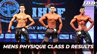 Men's Physique Category D Results IHFF Sheru Classic Pro Qualifier Series 2019