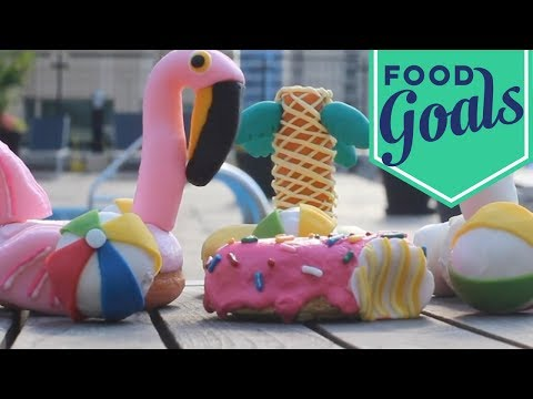 How to Make Pool Float Doughnuts   Food Network