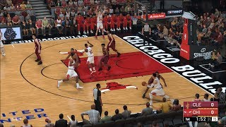 NBA 2K19 - Chicago Bulls vs Cleveland Cavaliers - Gameplay (PC HD) [1080p60FPS]