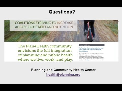 Planning and Community Health Webinar: Health Impacts in Idaho