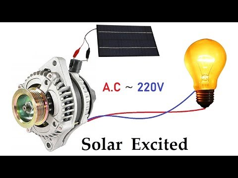 Generate 220v AC from 12v 64 Amps Car Alternator via Solar Panel Excitation ( 21 volts )