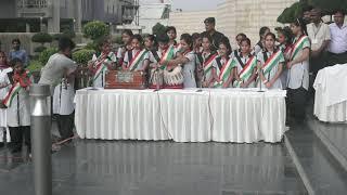Savitri Bai Phule  College students perform at Gr Noida Authority office | #73Independanceday