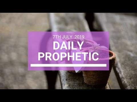 Daily Prophetic 7 July 2019 Word 4