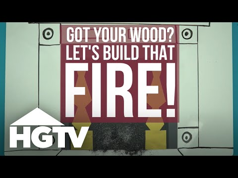 How to Build a Fire in a Fireplace - HGTV