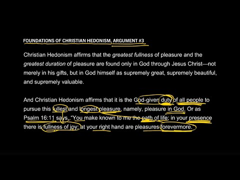Foundations of Christian Hedonism // Part 4 // What Is the Essence of Evil?