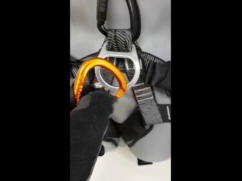 Öppna Karbin Passo TRI med montagehandske Worksafe M88