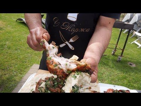 Кролик,приготовленный на мангале, с овощным гарниром. Рецепт от Жоржа photo