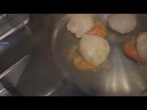 Capesante, mandarino e prezzemolo - Chef Andrea Valentinetti