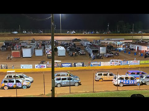 8/20/2021 Watermelon Race and Minivan Demolition Derby Lavonia Speedway - dirt track racing video image
