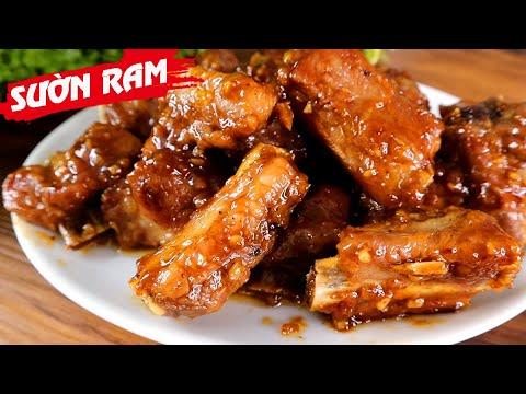 Cách làm SƯỜN RAM MẶN MẶN NGỌT NGỌT sao cho ngon và đẹp mắt - Món Ăn Ngon
