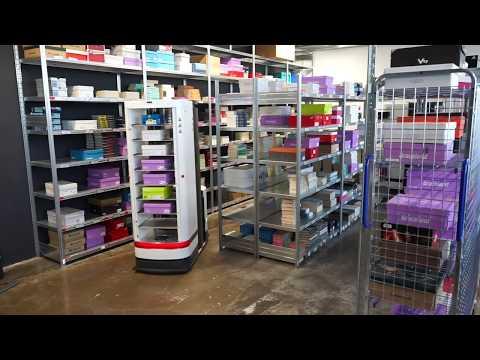 Multistacking shoe boxes   Magazino   Pick-by-Robot