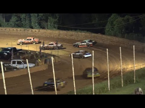 Stock V8 at Winder Barrow Speedway August 7th 2021 - dirt track racing video image