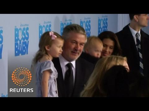 "Alec Baldwin brings family to ""Boss Baby"" premiere"