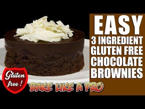 3 Ingredient Gluten FREE Chocolate Brownies Recipe