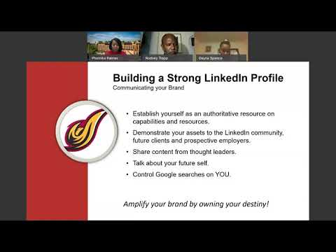 UDC Career Readiness Webinar:  Building your LinkedIn Profile