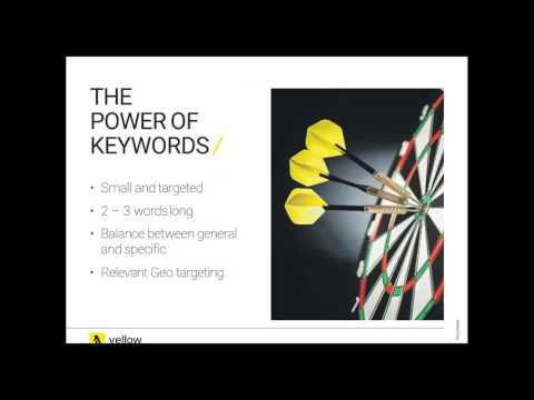 Yellow Google AdWords Webinar Nov 2016