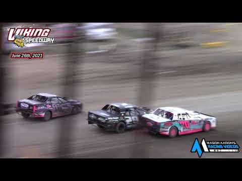 Viking Speedway WISSOTA Street Stock A-Main (6/26/21) - dirt track racing video image