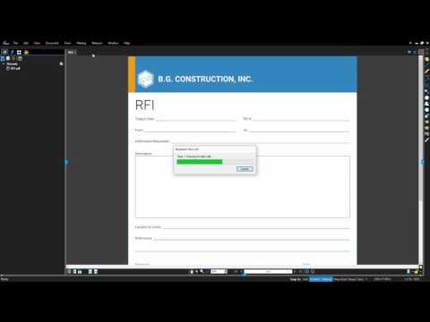 Revu 2017: Automatic Form Creation