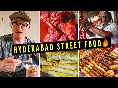 Hyderabad STREET FOOD Tour | Eating Sweet + Spicy INDIAN FOOD in Charminar 🔥🇮🇳