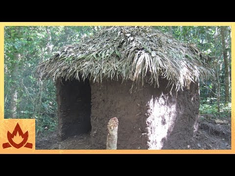 Primitive Technology: Palm Thatched Mud Hut Poster