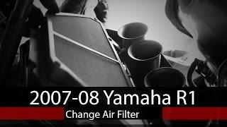 Come sostituire filtro aria Yamaha YZF-R1 2007-2008
