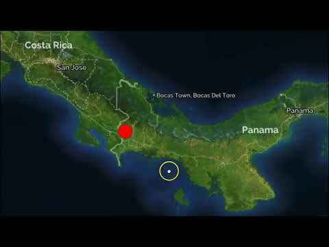 Strong M6.1 Earthquake Strikes The Costa-Rica and Panama Border Region