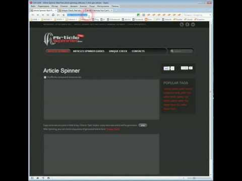 Article Spinner Online: Free Article Spinner Review