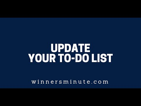 Update Your To-Do List  The Winner's Minute With Mac Hammond