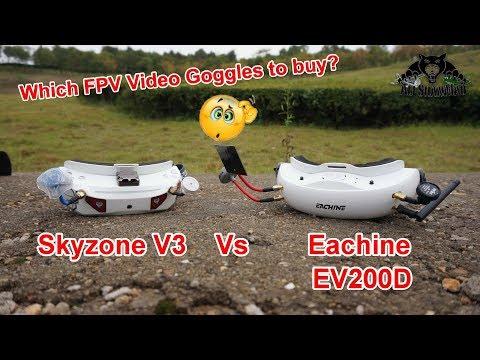 Video Goggles Battle Quadversity Vs Diversity Eachine EV200D Vs SkyZone V3 - UCsFctXdFnbeoKpLefdEloEQ