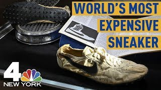 World's Most Expensive Sneakers: Nike 'Moon Shoes,' Rare Yeezys Up For Auction | NBC New York