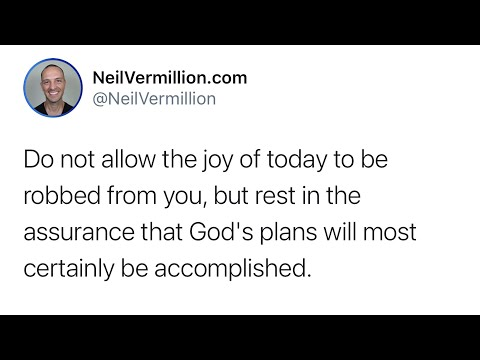 My Plans Will Be Accomplished - Daily Prophetic Word