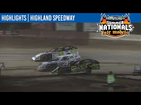 DIRTcar Summit Modifieds Highland Speedway August 13, 2021 | HIGHLIGHTS - dirt track racing video image