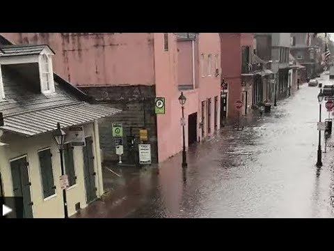 Breaking New Orleans Floods As Barry Tropical Storm Approaches
